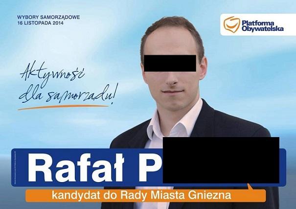 Rafała P. - były członek PO, katecheta i pedofil