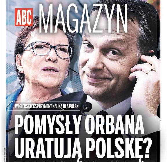 """Okładka nowego magazynu w Tygodniku """"ABC"""""""